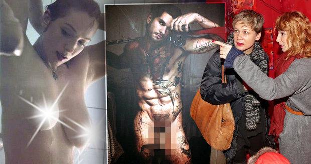 Ona se svléká před kamerou, on vystavil svou nahou fotku na výstavě - Vica Kerekes a Lukáš Musa Musil s nahotou na veřejnosti problém nemají
