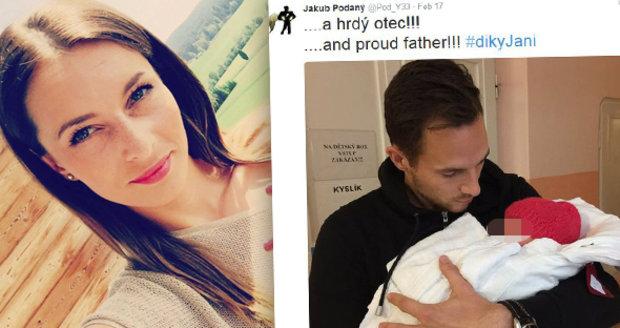 Moderátorka ČT se stala matkou, fotbalista Podaný září štěstím.
