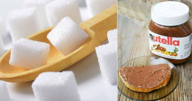 V balení Nutelly je neuvěřitelných 57 kostek cukru!