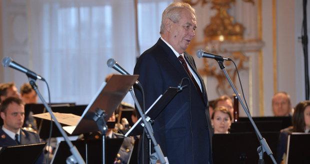 Miloš Zeman zahájil oslavu svého třetího výročí ve funkci