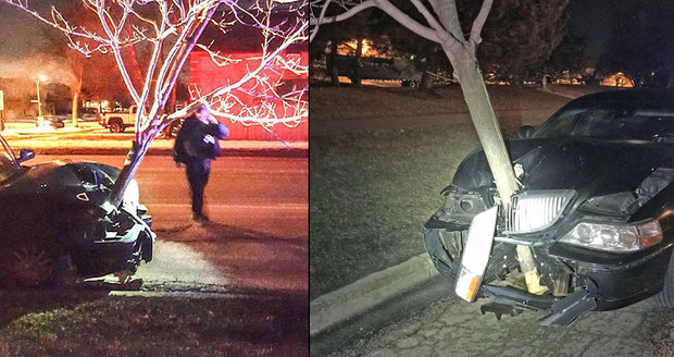 Opilá řidička jela se stromem zaseknutým v autě. Nabourala do něj, ale nevadil jí.
