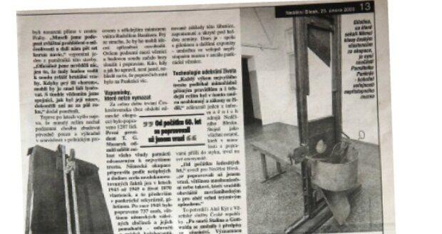 V únoru 2003 popsal Nedělní Blesk celý případ Olgy Hepnarové poprvé.