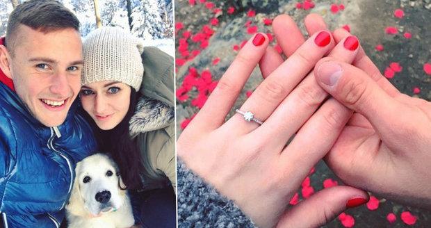 Tereza Chlebovská se zasnoubila.