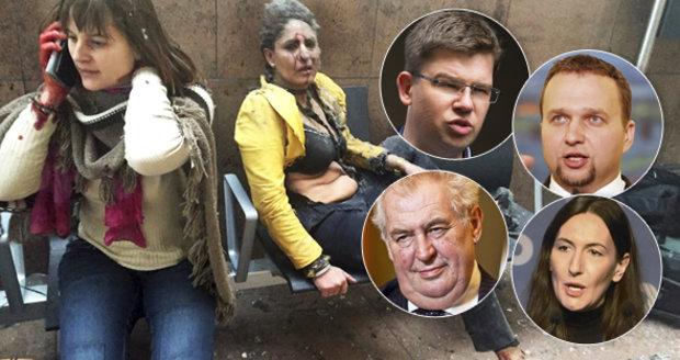 Zemanem otřásl bruselský masakr. Politici burcují Evropu k akci.
