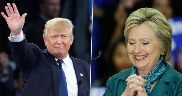 Trump válcuje primárky, vyhrál v pěti státech. Vítězí i Clintonová