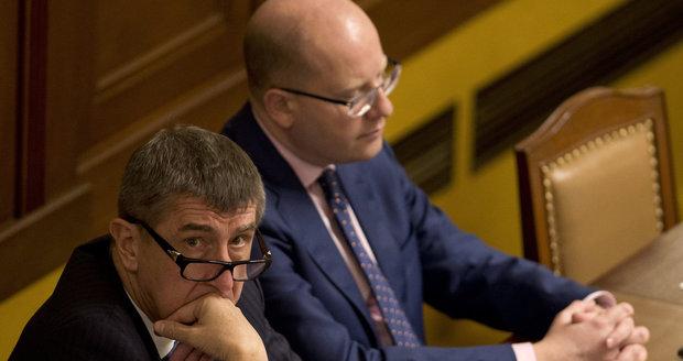 Andrej Babiš vedle Bohuslava Sobotky