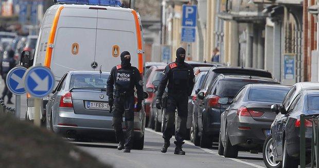 Další policejní razie poblíž Bruselu