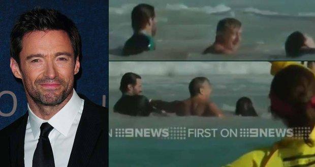 Hugh Jackman zachraňoval životy na australské pláži.