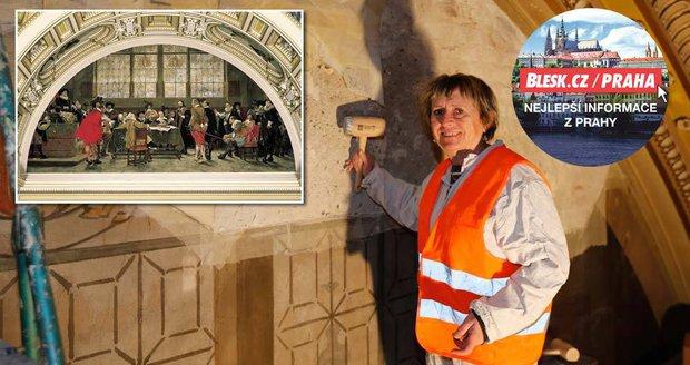 V Národním muzeu zachraňují 118 let starou malbu: Do Brožíkova obrazu restaurátoři »mydlí palicemi«