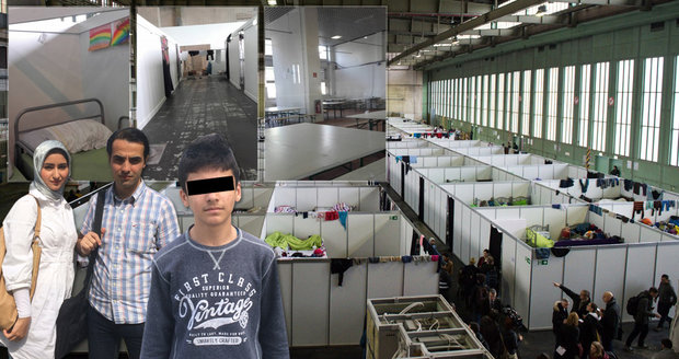 """Máme fotky z největší uprchlické """"ubytovny"""". V letištní hale spí 5000 migrantů"""