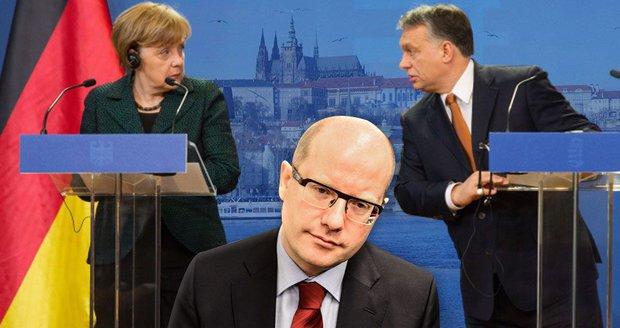 Merkelová nepřijela do Prahy kvůli fotce, vedle jakého politika odmítla stát?