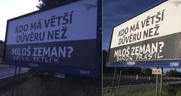 Kdo je autorem billboardů?