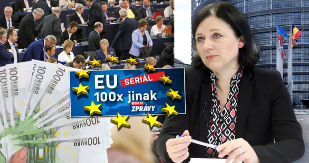 Raději si sedněte: Kolik peněz bere Jourová a čeští europoslanci?