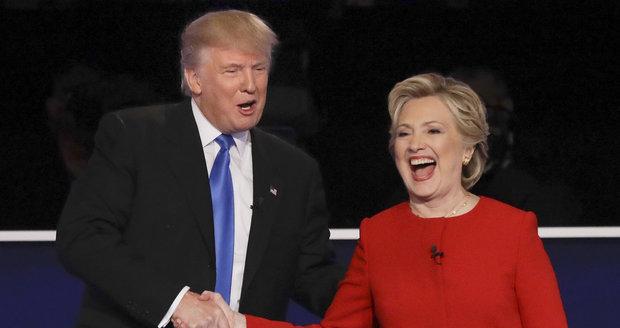 Donald Trump a Hillary Clintonová v prezidentské debatě
