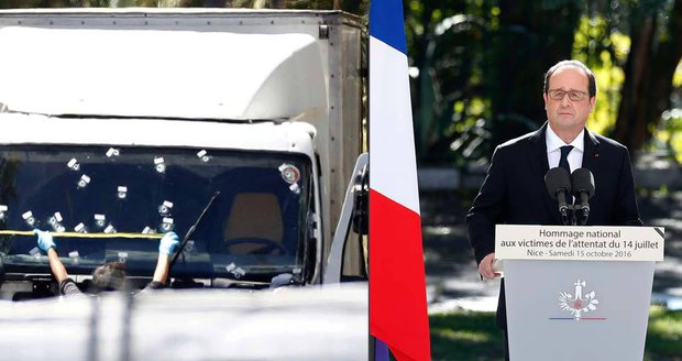 Za oběti z Nice se konala tryzna, prezident Hollande mluvil o úmyslu teroristů