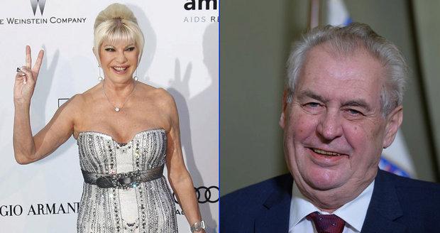 Zeman orodoval za velvyslankyni Ivanu. Trump řekl, že je jeho nejoblíbenější ex