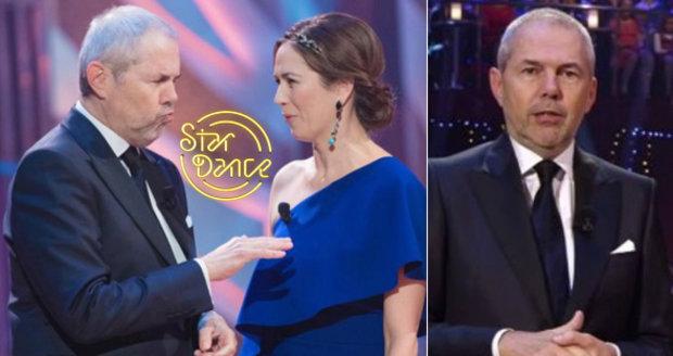 Moderátor Marek Eben během sobotního charitativního večera StarDance trpěl.