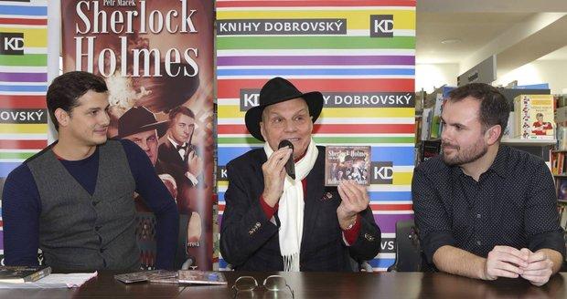 Křest audioknihy Sherlock Holmes: Hitlerův posel smrti spisovatele Petra Macka, již namluvilo 6 hereckých es.