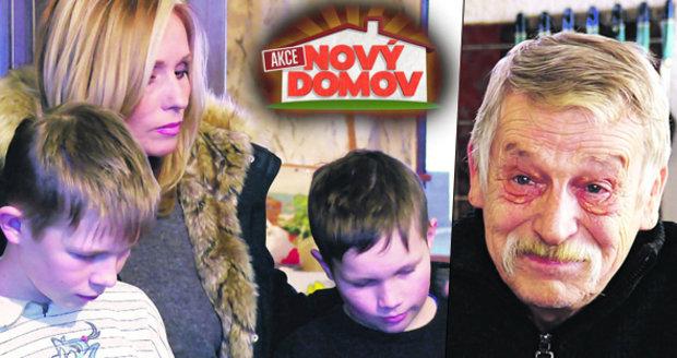 Děda a jeho vnuci z Akce Nový domov: V novém bytě jedli jen párky