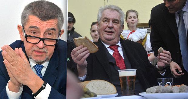 Andrej Babiš se raduje, Miloš Zeman odmítl zákon o střetu zájmů, tzv. lex Babiš.