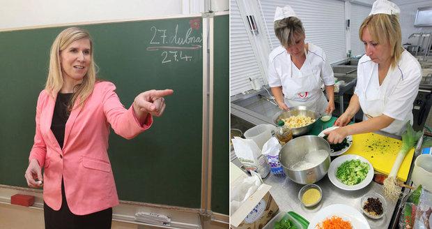 České děti tloustnou. Valachová chce do jídelen víc kuchařek i dietní menu