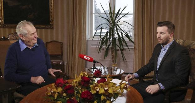 Miloš Zeman v pořadu S prezidentem v Lánech