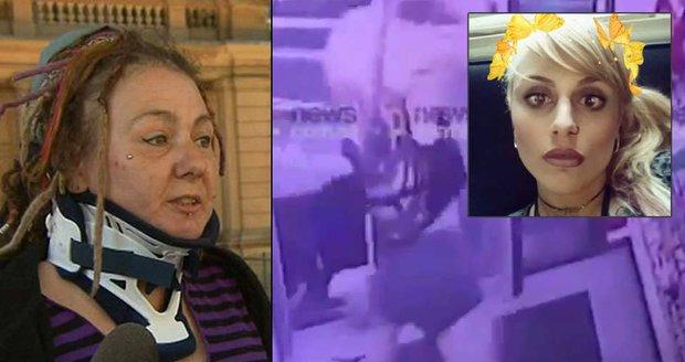 Agresivní blondýna Evie Amati zaútočila sekyrou na dredařku.