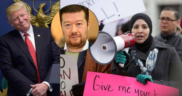 Trump to v Česku schytal za kroky proti migrantům. Okamura se raduje