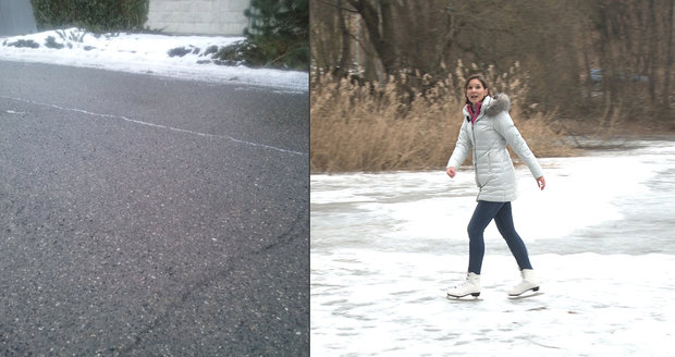 Černý led a meteoroložka Meteopressu Dagmar Honsová