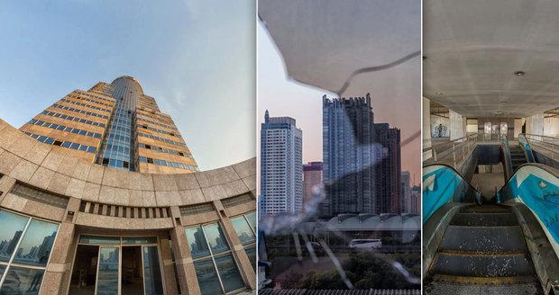 Opuštěný mrakodrap v Bangkoku (Thajsko)