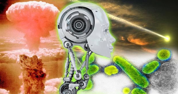 Zničí naši civilizaci vzpoura umělé inteligence, virus, srážka s asteroidem nebo jaderná válka?