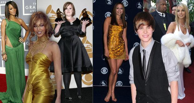 Jak vypadaly celebrity na svých prvních Grammy?