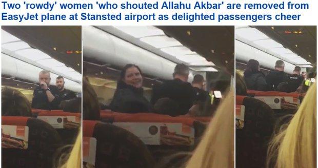 Dvě Britky řvaly při valentýnském letu z Prahy do Londýna Alláhu akbar.