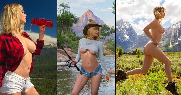 Playmate Sara Jean Underwood vyráží na túry opravdu »nalehko«. Sexy cestovatelka má miliony fanoušků.