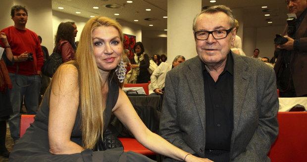 2011: Forman s manželkou Martinou při své poslední návštěvě v Česku