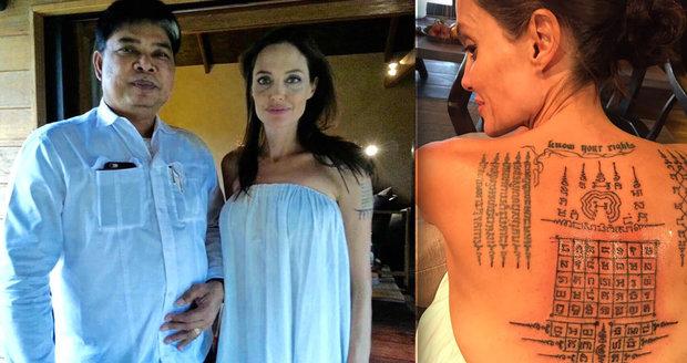 Neobvyklé tetování vzniklo ještě v době, kdy byla Angelina s Bradem Pittem.
