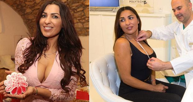 Anife Vyskočilová si nechala zmenšit prsa a dva měsíce trpěla bolestmi.