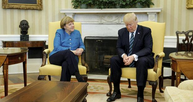Jednání Donalda Trumpa a Angely Merkelové