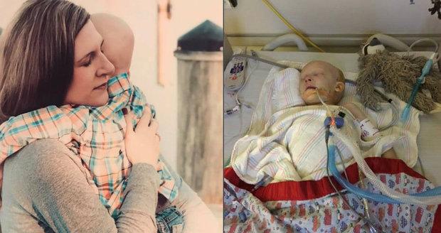 """Chlapeček (†4) prohrál boj s rakovinou: """"Mami, mám tě rád,"""" byla jeho poslední slova"""
