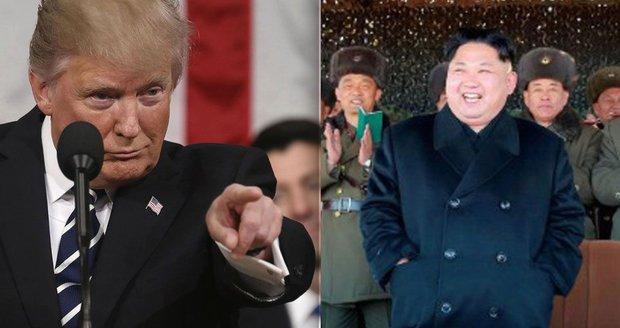 Kim hrozí atomovkou: Přijde odveta, jakou svět neviděl, varuje Trump