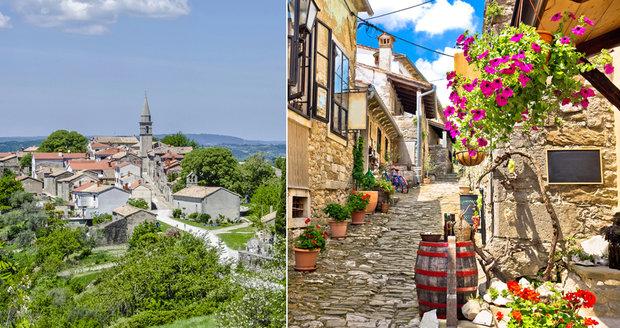 Chorvatské město Hum