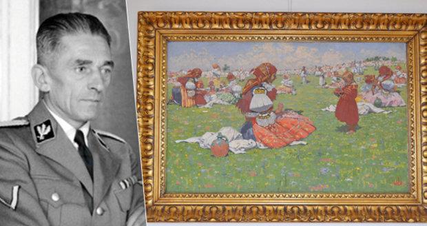 Objevilo se dílo malíře Joži Uprky (†78): Obraz, který chtěl K. H. Frank!