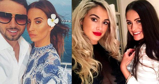 Přítel televizní hvězdy Ferne McCann je podezřelý z útoku kyselinou na sexy modelku a její sestru.