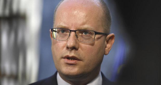 Premiér Bohuslav Sobotka (ČSSD) po jednání, na kterém odmítl Alenu Schillerovou jako ministryni financí