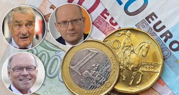Názory na zavedení eura se v Česku liší.