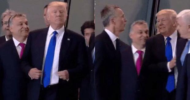 Buldozer Trump. Nekompromisně odstrčil premiéra, co mu v NATO stál v cestě