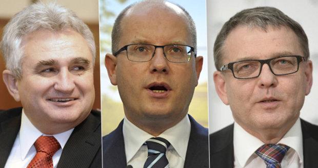 Bohuslav Sobotka si dovede představit, že za ČSSD bude kandidovat na prezidenta Lubomír Zaorálek nebo Milan Štěch.