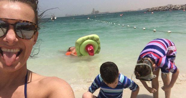 Alice Bendová vyrazila letos s přítelem a dětmi do Dubaje. Ona trpěla masovým all inclusive, ale děti si to užily.