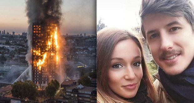 Mladý italský pár zahynul při požáru Grenfell Tower.