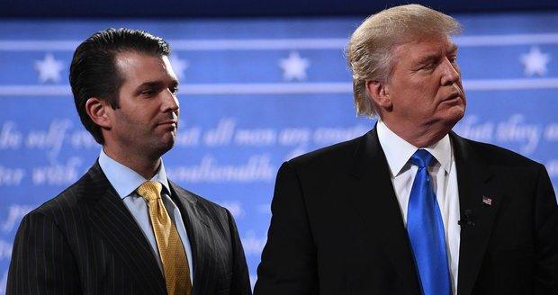 Trump zuří kvůli honu médií na syna. Junior chtěl od Rusů kompro na Clintonovou